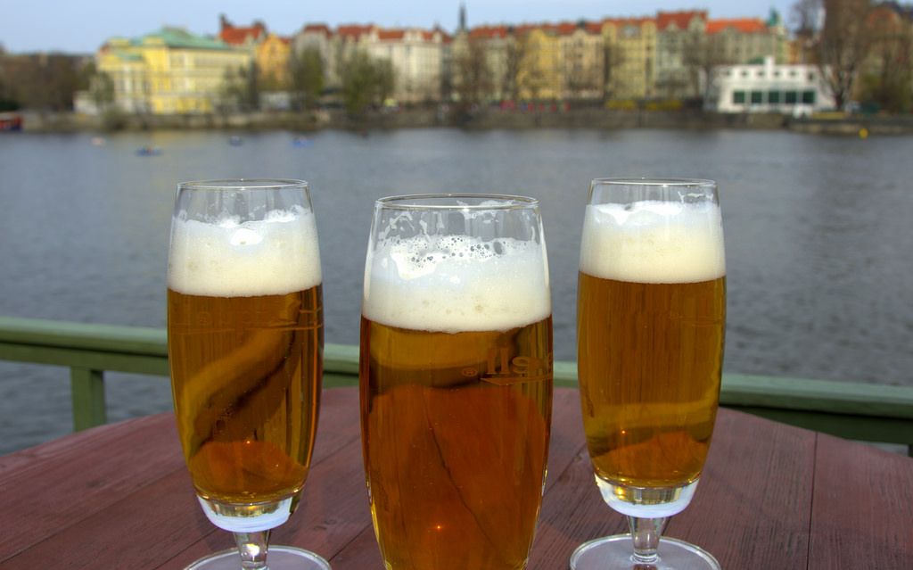 Drinking Pivo in Prague