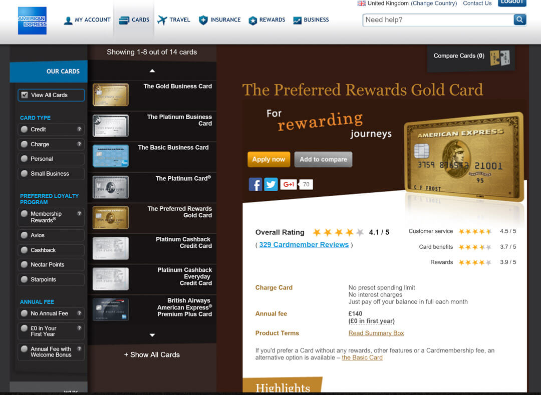 american express preferred rewards gold card flying club miles