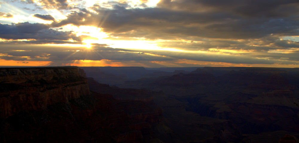Sunset at Grand Canyon's Yaki Point Video