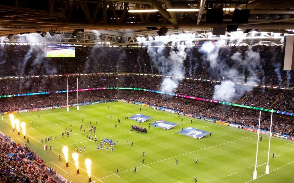 Weekend of World Cup Rugby in Cardiff